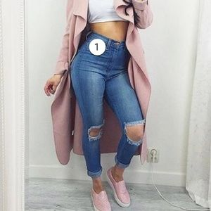 Tough luck fashion nova skinny jeans light denim